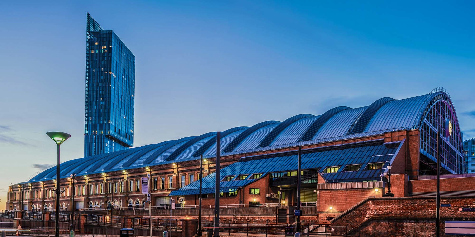Manchester Central and the Beetham Tower